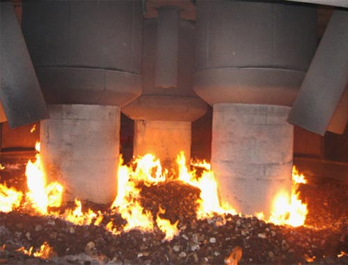submerged electric arc furnace
